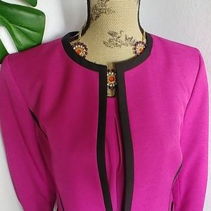 Evan Picone Fushia Blazer Jacket and Shell Blouse